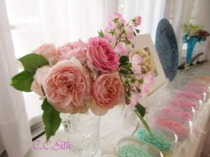 ♥優しいピンクのグラデーションと素敵な香りTさんより♥