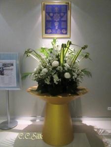 ♥ホテルのお花も白とグリーン♥